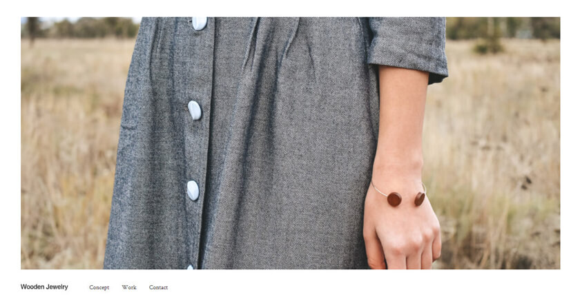 Wooden Jewelry   ブランドサイト(ジュエリー) / 1カラム