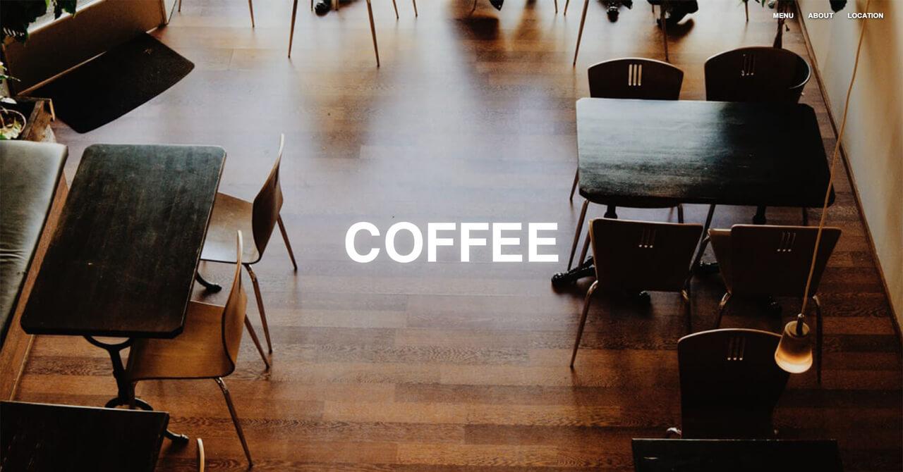 COFFEE - Cafe | ストアサイト(カフェ)/ 1カラム LP
